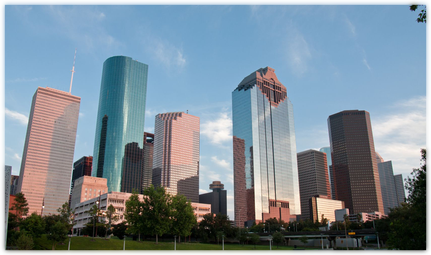 Houston Business Skyline